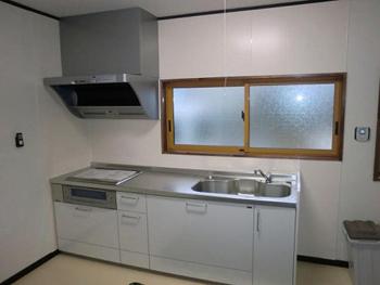 スペースを有効活用した広々としたキッチンになり、とっても快適です!