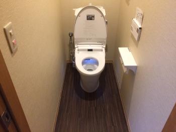 使い易くおしゃれなトイレになりました。